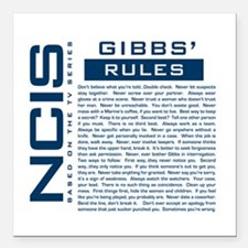NCIS Gibbs Rules Square Car Magnet 3&Amp;Quot; X 3