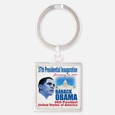 57th Presidential inauguration Square Keychain