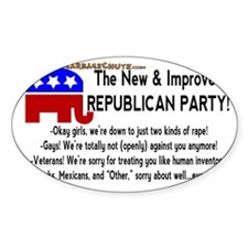 The New and Improved Republican Par Decal