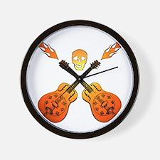 Hot Guitars Wall Clock