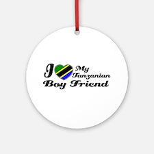 Tanzanian Boy friend Ornament (Round)