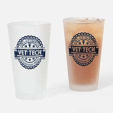 100% Authentic Vet Tech (Blue) Drinking Glass