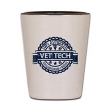 100% Authentic Vet Tech (Blue) Shot Glass