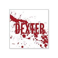 "splatter-white-dexter_allov Square Sticker 3"" x 3"""