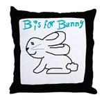 B is for Bunny Throw Pillow