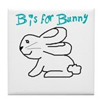 B is for Bunny Tile Coaster