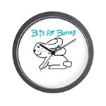 B is for Bunny Wall Clock