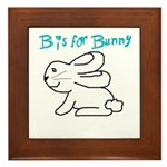 B is for Bunny Framed Tile