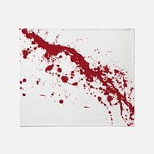 splatter-white_allover-f Throw Blanket