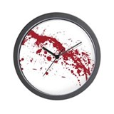 Blood splatter Wall Clocks