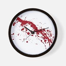splatter-white_allover-f Wall Clock