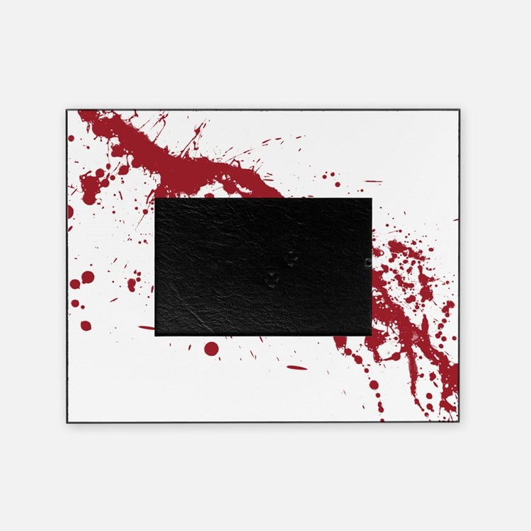 splatter-white_allover-f Picture Frame