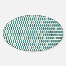 leaves rug 5 x 7 Sticker (Oval)