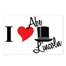 I Love Abe Lincoln Postcards (Package of 8)