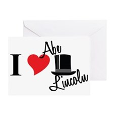 I Love Abe Lincoln Greeting Card