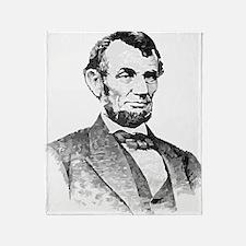 President Lincoln Throw Blanket