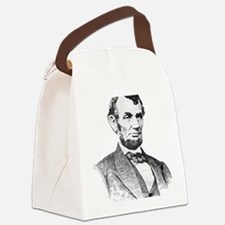 President Lincoln Canvas Lunch Bag