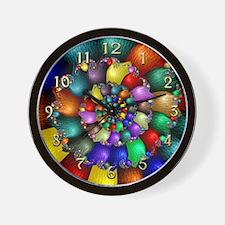 Textured Spiral I Clock Face Wall Clock