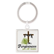 Forgiveness You Will Receive Square Keychain