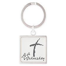 Ash Wednesday Square Keychain