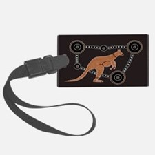 Aboriginal Kangaroo Luggage Tag