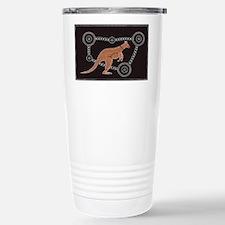 Aboriginal Kangaroo Stainless Steel Travel Mug