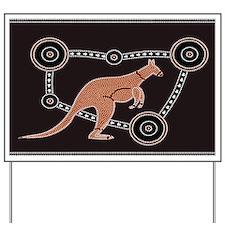 Aboriginal Kangaroo Yard Sign