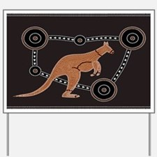 Aboriginal Kangaroo Yard Sign