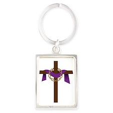 Season Of Lent Cross Portrait Keychain