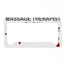 Massage Therapist Zombie License Plate Holder