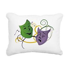 Mardi Gras Face Masks Rectangular Canvas Pillow