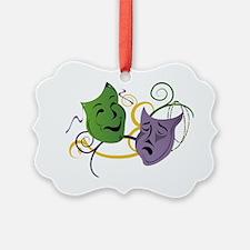 Mardi Gras Face Masks Ornament