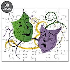 Mardi Gras Face Masks Puzzle