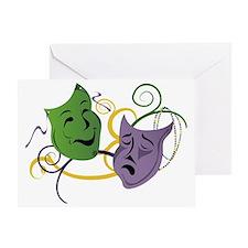 Mardi Gras Face Masks Greeting Card