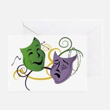 Mardi Gras Face Masks Greeting Card