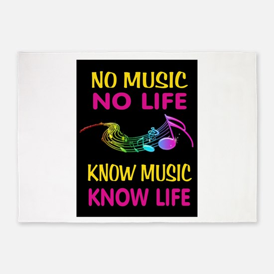 KNOW MUSIC 5'x7'Area Rug