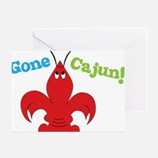 Gone Cajun Greeting Card