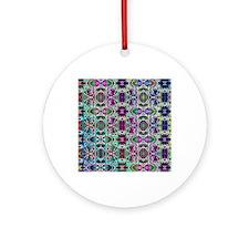 Rainbow Fractal Art Pattern Round Ornament