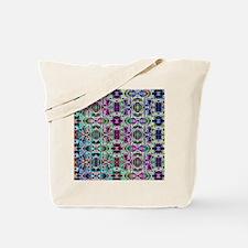 Rainbow Fractal Art Pattern Tote Bag