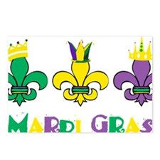 Mardi Gras Royalty Party  Postcards (Package of 8)