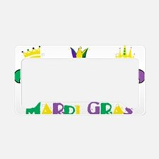 Mardi Gras Royalty Party New  License Plate Holder