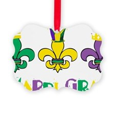 Mardi Gras Royalty Party New Orle Picture Ornament