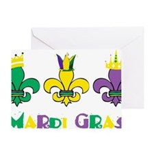 Mardi Gras Royalty Party New Orleans Greeting Card