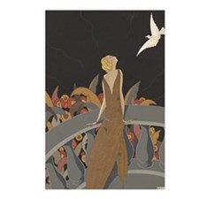 Art Deco Lady And Bird Postcards (Package of 8)