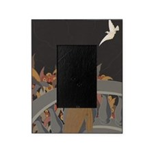 Art Deco Lady And Bird Picture Frame
