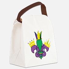 Mardi Gras Party Canvas Lunch Bag