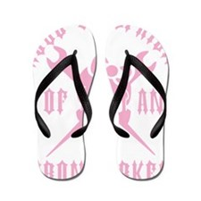 IRONWORKER GF LOGO pink Flip Flops
