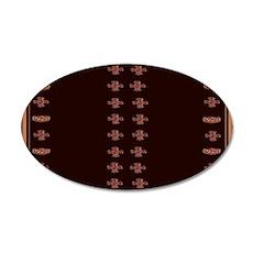 Pagan Symbols 35x21 Oval Wall Decal