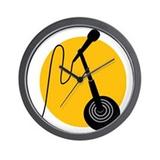 Stage Microphone Wall Clock