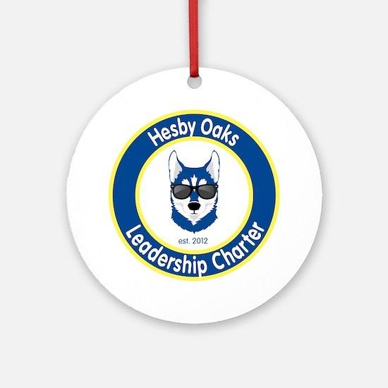 Informal Hesby Oaks Logo Round Ornament